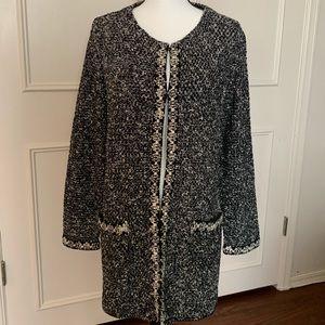 Beautiful Black&White Long Cardigan/Jacket-PL